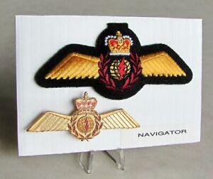 Air-Force-Navigator-Officer-Full-Size-Metal-amp-Cloth-Badge-Set-Wings-Lot