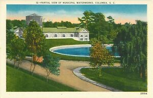 Postcard-Municipal-Waterworks-Columbia-SC