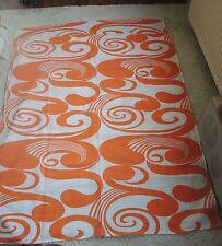 Klassiker - 2 x Tischdecke  / Stoff - orange / weiß - Space Age Panton 70er 70s