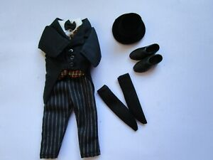 1:12 scale man/'s BLACK plastic business shoes fit Heidi Ott 6 inch  dolls