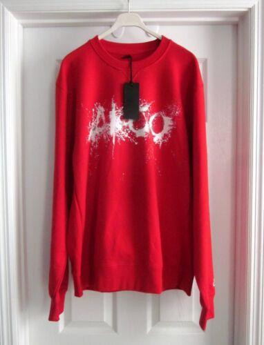 Nwt AKOO Men/'s Red AK Crew Graphic Logo Crew Sweatshirt Sz L XXL