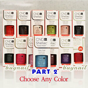 Gel-Polish-CND-Shellac-NEW-Nail-Colours-7-3ml-0-25-fl-oz-Part-2-Choose-Any