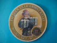 Beer COASTER: Water Street Brewing Co ~ Fifteen Year Anniversary -Milwaukee 1987
