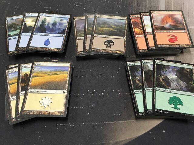 200 Magic the Gathering MTG Basic land card lot 40 OF EACH!!