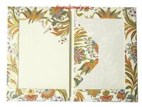 Gift Set Of 10 Italian Blank Paper+envelope Gold/multicolor Floral Small