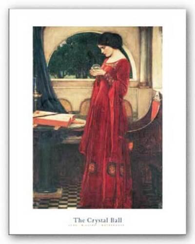FANTASY ART PRINT The Crystal Ball John William Waterhouse 16x22.5
