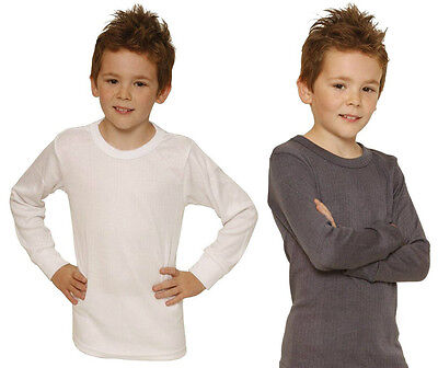 Octave 6 Pack Boys Thermal Underwear Long Sleeve T-Shirt//Vest//Top