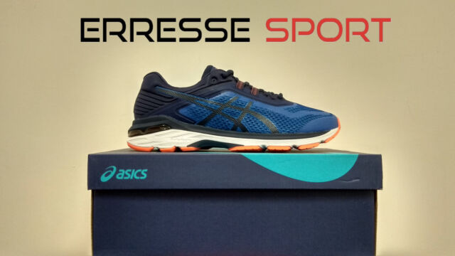 Asics Gt 2000 6 Scarpa ginnastica Blublu Scuroarancio Uomo T805n 4549 43.5