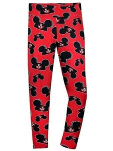 NWT Disney Parks Mickey Mouse Ears Hat Leggings Mouseketeer Red Women's 1X