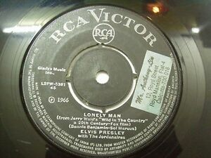 "ELVIS PRESLEY JORDANAIRES lonely man/surrender SINGLE 7"" 45 RPM INDIA INDIAN VG+"