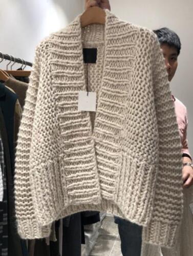 allentato Style Lazy Outwear Chunky cardigan maglione Womens G161 oversize wZtcqaw5