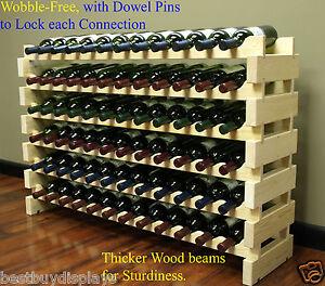Efficace Très Robuste 72 Bouteilles Casier à Vin Empilable Rangement 6 Niveaux Étagères Support Wn84-afficher Le Titre D'origine