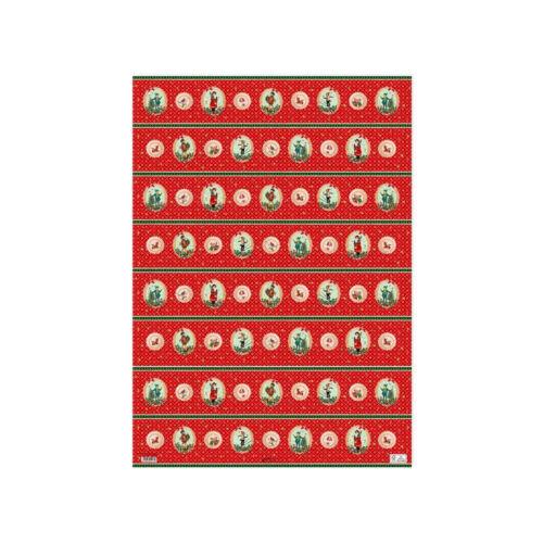 *Weihnachten*Christina Kölsch*Geschenkpapier 50 x70cm*Nostalgie*Buttons*