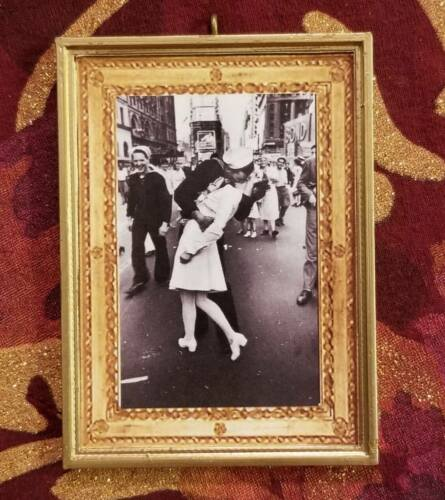 The Kiss V-J Day WWII Alfred Eisenstaedt Photo Insp Handmade Christmas Ornament