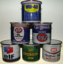 Set of 6 Retro Oil Motorcycle Car Mechanic Enamel Tea Coffee Mugs Gift Idea