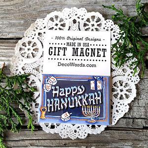Hanukkah Fridge Gift Magnet Judaica Chanukah Jewish Menorah New USA