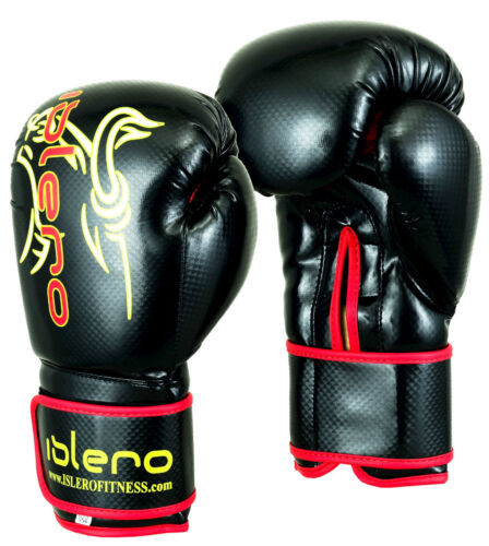 EVO MAYA Leather Boxing Gloves MMA Punch Bag Sparring Kick Boxing Training Glove