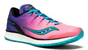 01a27fb0a01f NEW - SAUCONY Women s  FREEDOM ISO  Pink Purple Teal RUNNING SHOES 8 ...