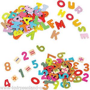 60 holzbuchstaben oder zahlen abc magnet buchstaben holz set alphabet kinder ebay. Black Bedroom Furniture Sets. Home Design Ideas