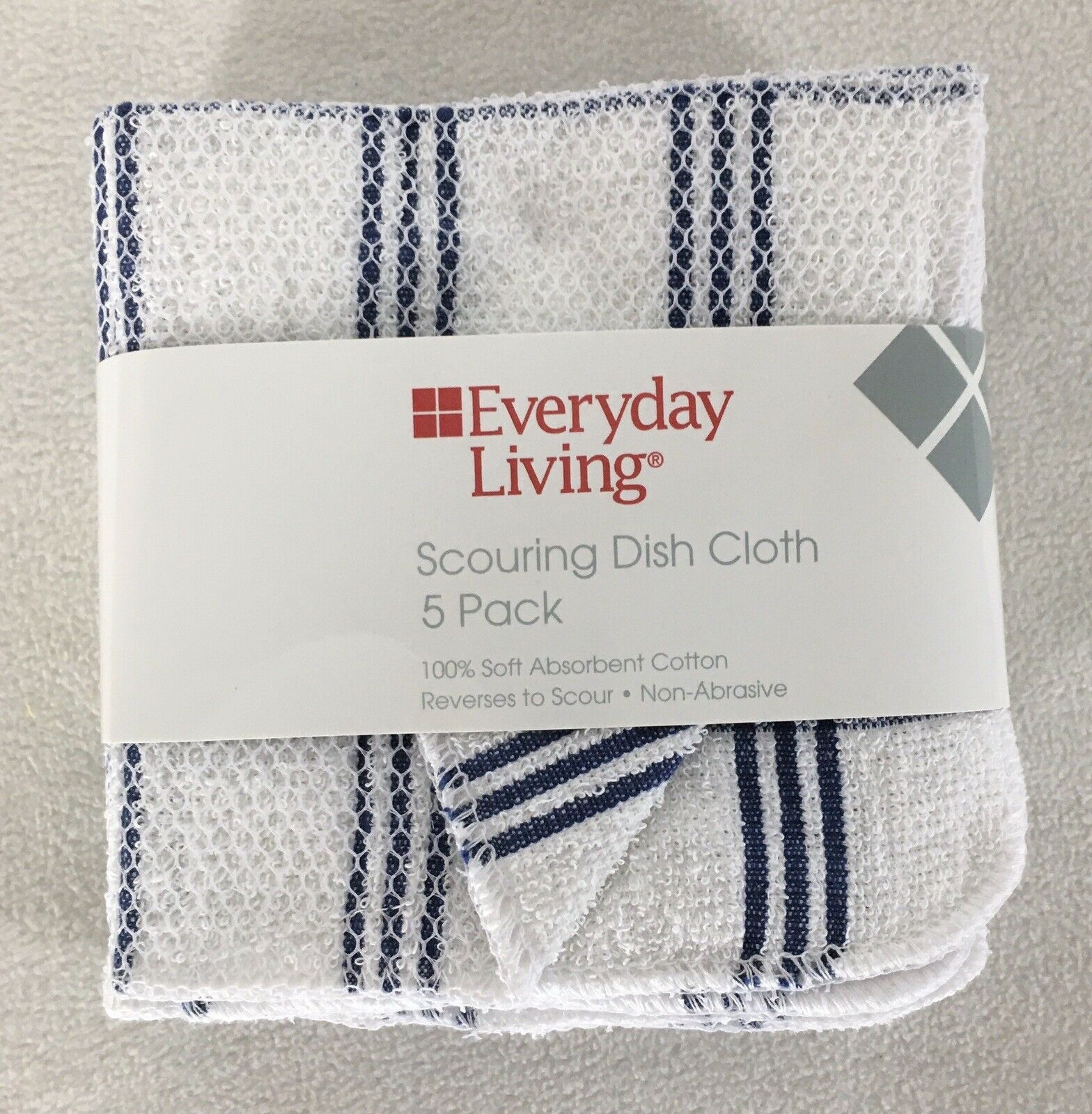 "12-Pack:100/% Cotton Absorbent Kitchen Washcloth Towel Set 12/""x12/"" Dish Cloths"