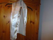 Sensación De Satén Marfil Y Oro comprobado bufanda de lana forrada, Nuevo, idea de regalo?