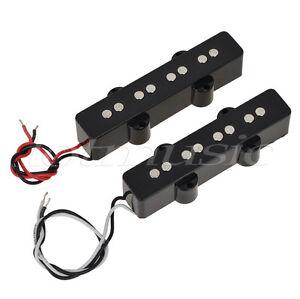 pair of 4 string bridge neck pickups set for fender jazz bass black open style 634458639019 ebay. Black Bedroom Furniture Sets. Home Design Ideas