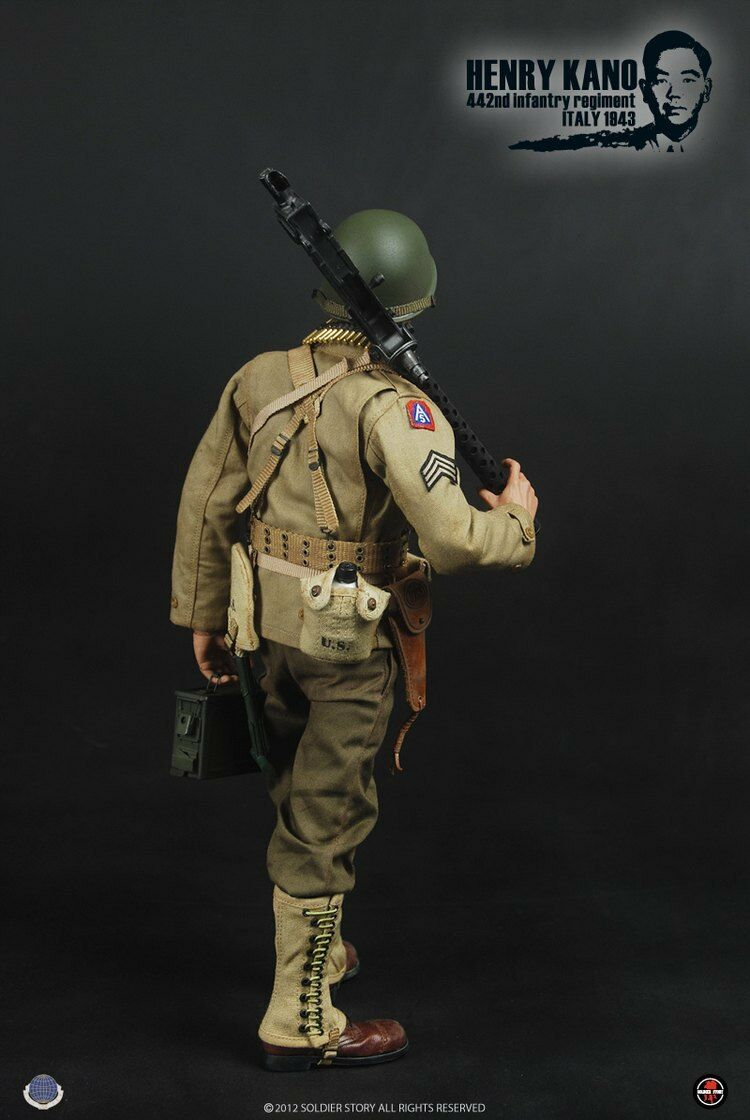 Soldier Story SS059 1 6US ARMY WWII Henry Kano 442nd 442nd 442nd Infantry Regiment 1943 2aedcb