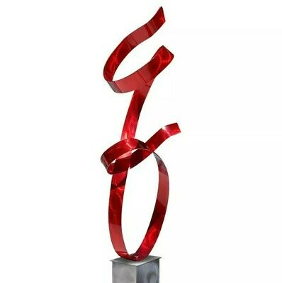 ULTRA MODERN Metal Wall Art Hanging Red Orange Sculpture SIGNED  Jon Allen