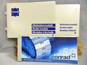 3 Conrad Catalogs Modell Faszination No. II & III & 2002 Modell Faszination NEW