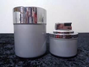 Erhard-Design-Metal-Boite-de-Cigarettes-Et-Briquet-Vintage-A-1970