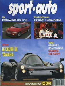 SPORT-AUTO-n-365-06-1992-YAMAHA-OX99-ESCORT-RS-COSWORTH-BMW-M5