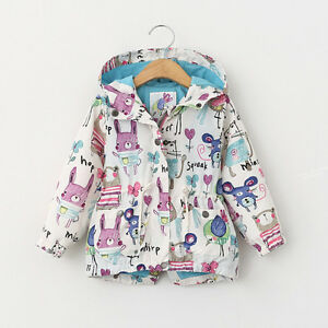689db0acd Cute Children Kids Boys Girls Jacket Graffiti Hand Print Coat Hooded ...