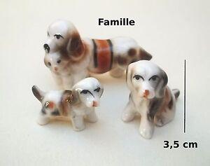 Famille De Chiens En Porcelaine,collection ,objet De Vitrine, Hond, Dog S1-f Hs7fw60p-08002910-286563340