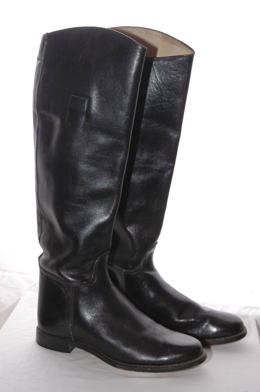 LEATHER Tall RIDING BOOTS Equestrian Pulls Rodeo Vintage Made USA Womens 7.5