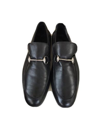 Gucci Loafers Horsebit Shoes Men Black UK 9