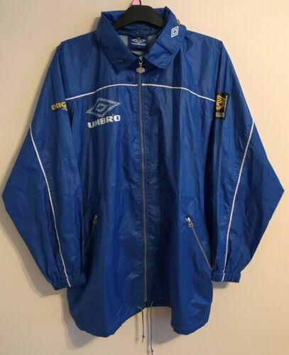 Rare Umbro raining training jacket size XL blue colour