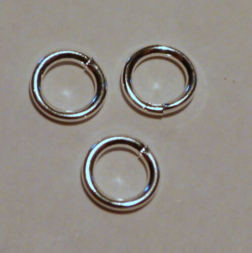 4 mm Jump rings Silver plated open Top quality findings 100-1000