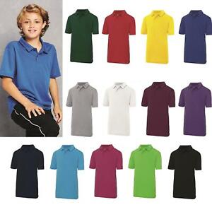 AWDis-Enfants-Cool-Polo-T-Shirt-Garcons-Filles-Polyester-Sports-P-E-Summer-Tee-3-13