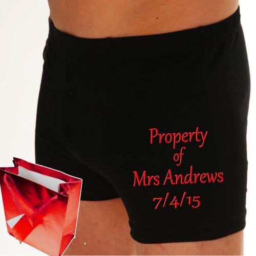 "PERSONALISED Wedding Boxer shorts /""UNDER NEW MANAGEMENT/"" or /""PROPERTY OF..?/"""