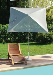 Ambitieux Maffei Parasol Pôle Central Pool Taupe Batyline 180x180 Cm Made In Italy