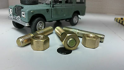Land Rover Series 1 2 2a 3 Stainless Exhaust Manifold Stud /& Brass Nut 5//16 set