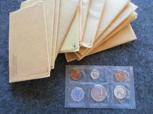 IN U.S 1962 5-COIN PROOF SET MINT PACKAGING DAY-03066 3 COINS 90/% SILVER