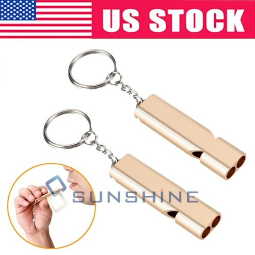 2Pack Survival Aluminum Whistle Outdoor Camping Sports Training Emergency Tools