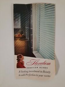 VENETIAN BLINDS 1940s VINTAGE brochure DECORATING Cincinnati OH