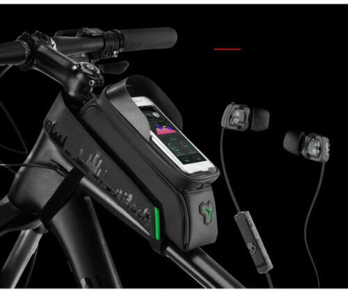 RockBros 5.8//6/'/' Waterproof Bicycle Front Tube Phone Bag Touch Screen Phone Hold