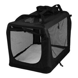 AVC-Pet-Carrier-Black-Folding-Dog-Cat-Puppy-Travel-Transport-Bag-Extra-Large