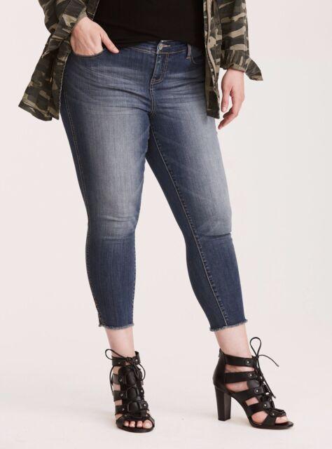 5e4addce5bb Torrid Premium Stretch Low Rise Ultra Skinny Jean Medium Wash 16  08797