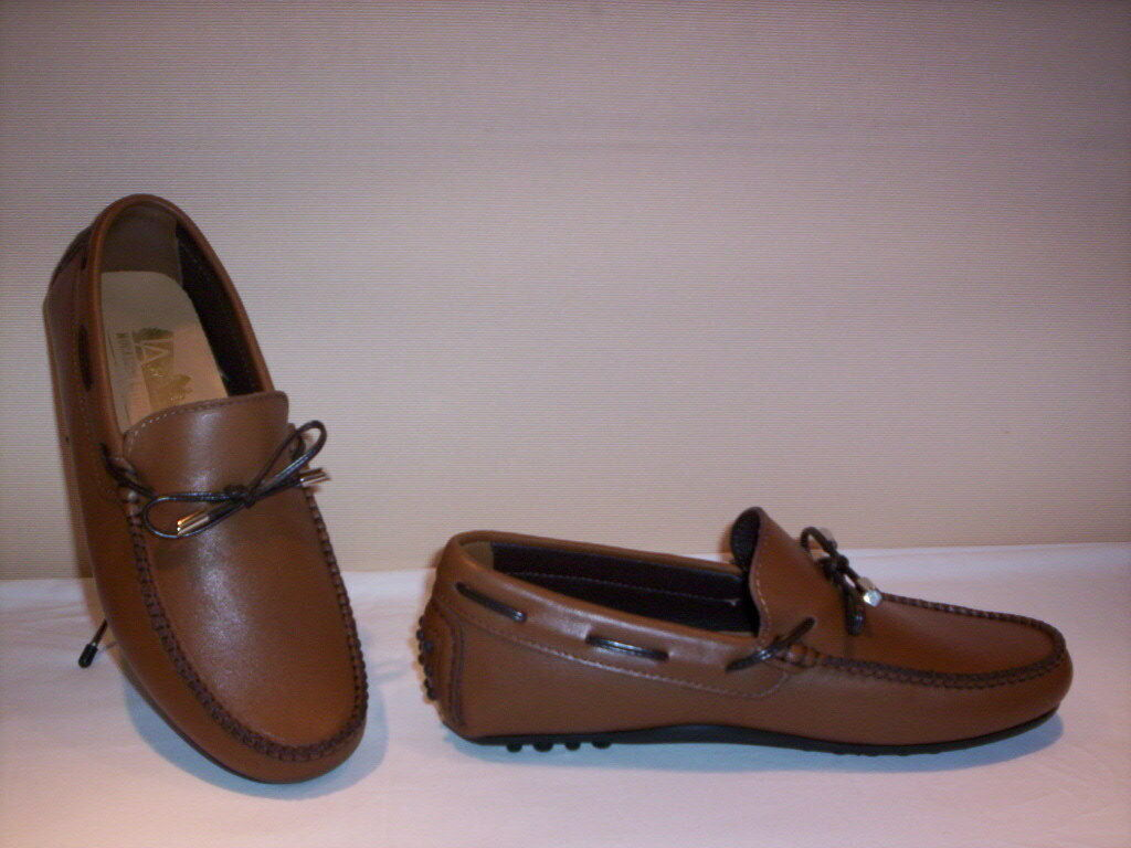 Loafers Artisan low casual Made in  leather men suede brown new