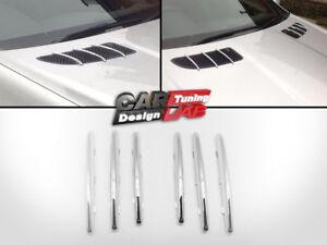 Chrome-Hood-Molding-Grill-Grille-Vent-Cover-For-04-11-Mercedes-Benz-R171-SLK