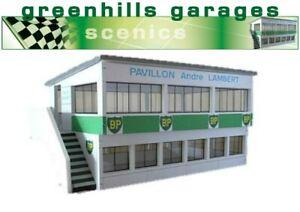 Greenhills-Scalextric-Slot-Car-Building-Reims-Press-Box-Kit-1-43-Scale-Bran
